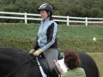 Mary helps riders achieve a balanced seat