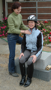 Mary helps equestrians learn how to move in balance