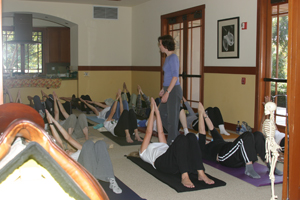 Workshop participants learn how to improve their flexibility balance and coordination