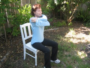 Cross Arms while sitting